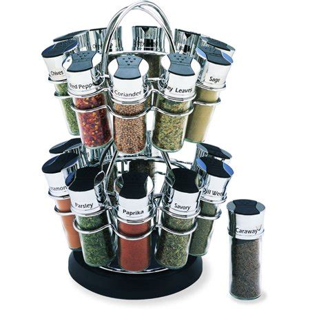 Electronic Spice Rack by Olde Thompson 20 Jar Flower Revolving Spice Rack Walmart
