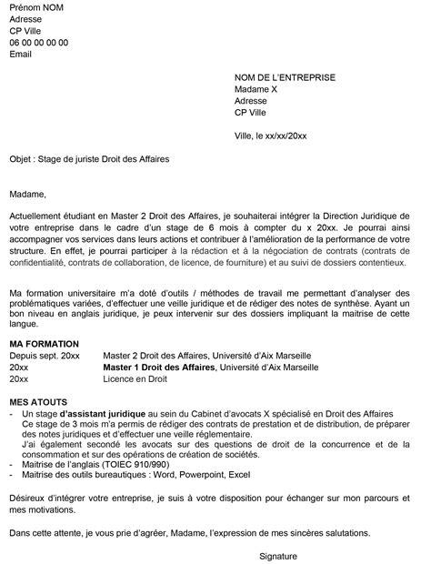 Lettre Cv by Exemple De Lettre Cv Stage Objectif Emploi Orientation