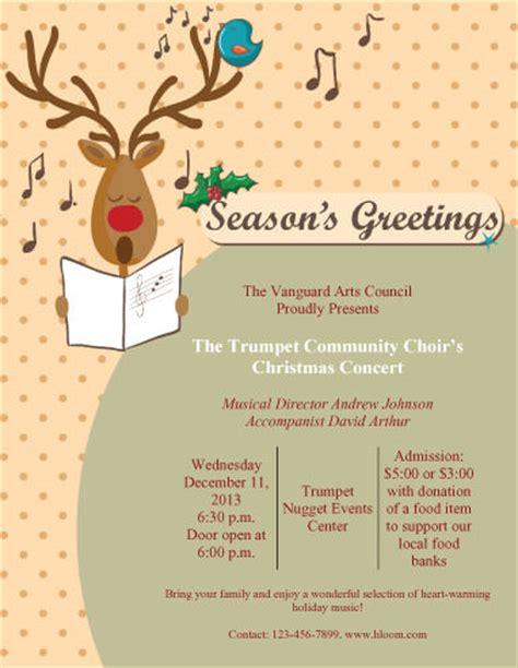 christmas program template 43 free flyer templates for diy printables hloom