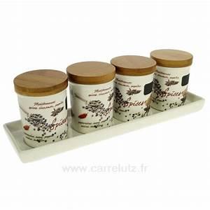 Bocal A Epice : set de 4 bocaux porcelaine pices la cuisine porte ~ Teatrodelosmanantiales.com Idées de Décoration