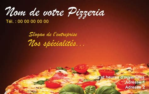 Carte De Visite Restaurant Marocain by Pizzeria Carte De Visite Restaurant Mod 232 Le Gratuit 224