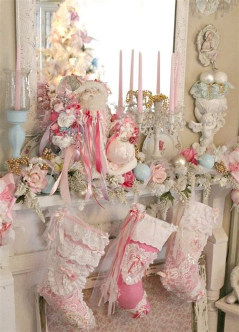 shabby chic christmas 44 delicate shabby chic christmas d 233 cor ideas digsdigs