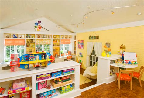 Amazing Kids Craft And Play Room Design In Bright Colors