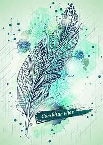 Malen Mit Wasserfarben : vektor vorlage poster mit wasserfarben malen und tinte feder hintergrund abstrakte aquarelle ~ Orissabook.com Haus und Dekorationen