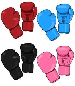 Set of Cartoon Boxing Gloves