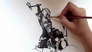 'Assassins Creed III' - Time Lapse Painting - YouTube