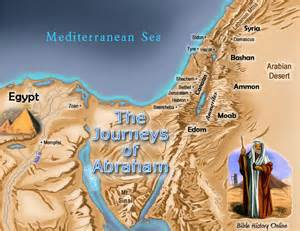 Map Abraham's Journey to Canaan