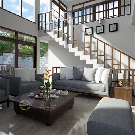desain rumah mewah style villa bali modern  jakarta jasa