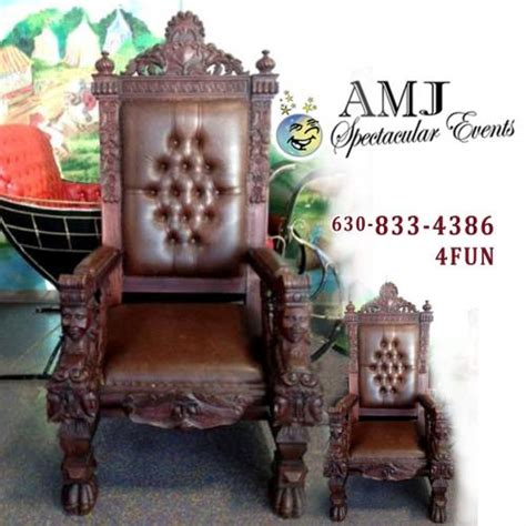 rent royal chair for santa claus or other royalty in