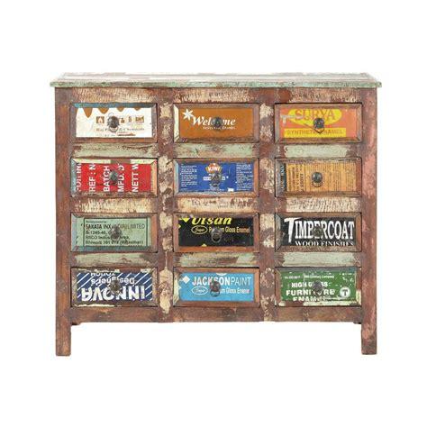 commode cabinet bois recycl 233 r 233 cup maisons du monde