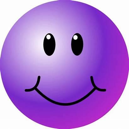 Smiley Face Purple Faces Happy Clip Clipart