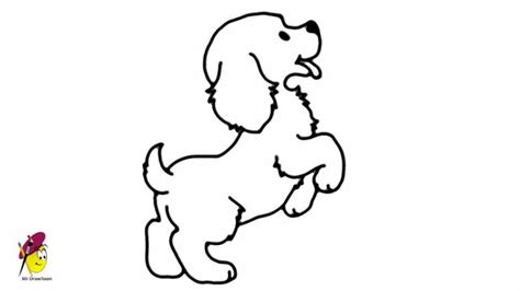 standing baby dog   draw  dancing dog easy