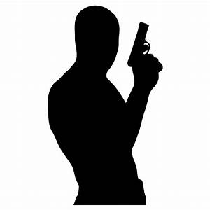 Man with a Gun Silhouette | Download Free Vector Art ...