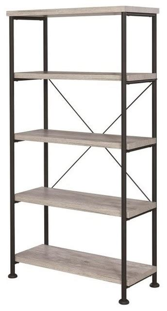 Industrial Style Bookcase by Analiese Industrial Style 4 Shelf Bookcase Industrial