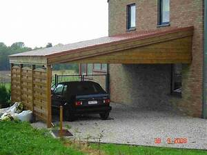 Faire Un Carport : carport bois toit plat ~ Premium-room.com Idées de Décoration