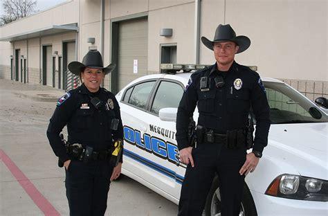 mesquite police department adds  cowboy hat   uniform