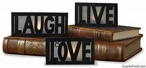 Live Love Laugh Tea Light Candle Holder Set