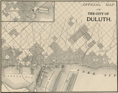 Map Monday: Duluth c. 1887 | streets.mn