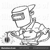 Welder Clipart Welding Coloring Pages Illustration Royalty Rf Printable Toonaday Leishman Ron Getcolorings Template sketch template