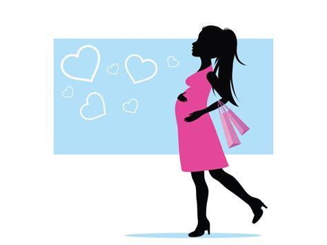 pregnant woman clipart shilloette clipground