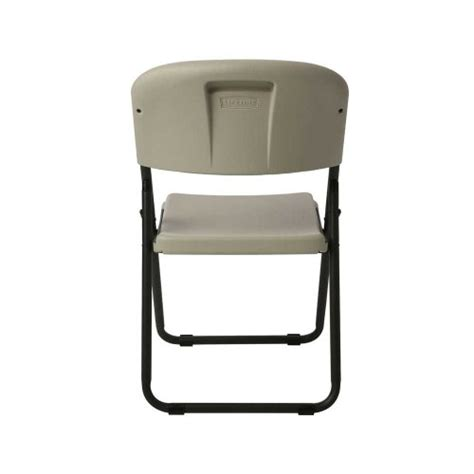 lifetime 80155 loop leg folding chair white granite