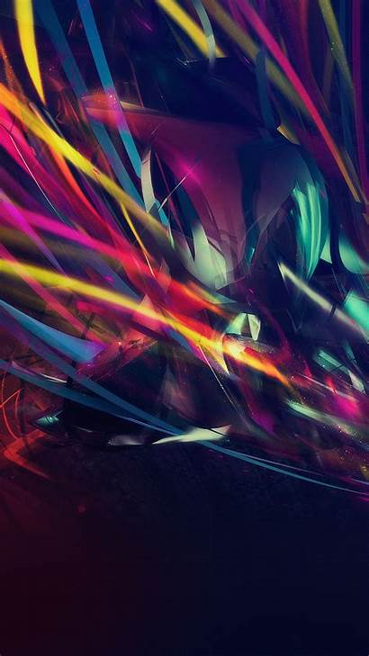 Neon Dark Android Colorful Disco Patterns Wallpapers