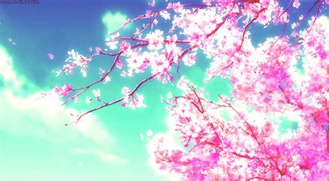 Cherry Blossom Animated Wallpaper - anime gif cherry blossom anime