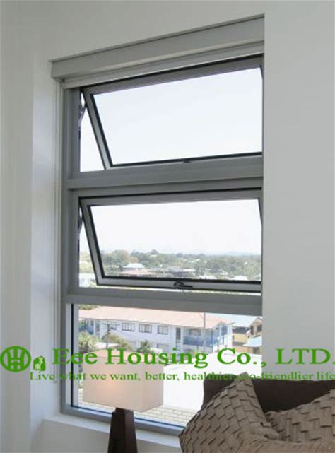 clear tempered safety glass aluminum awning window