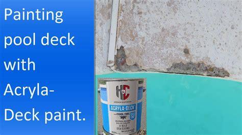 applying hc acryla deck  cool feel technology paint