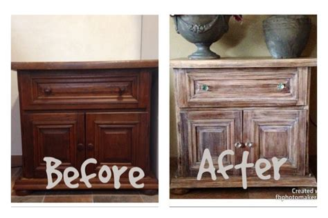 liming wax  dark stain dark wood furniture redo