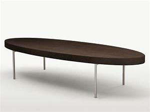 low oval solid wood coffee table ebe ebe collection by With oval solid wood coffee table