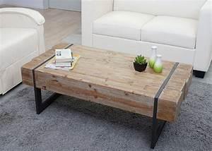 Couchtisch HWC A15a Wohnzimmertisch Tanne Holz Rustikal