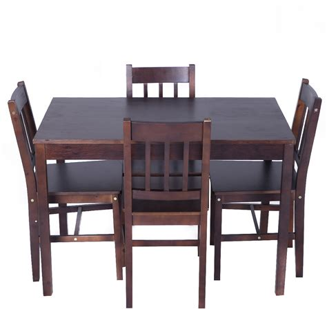 solid wooden pine dining table   chairs set kitchen
