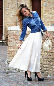 Outfit with long maxi skirt Archivi