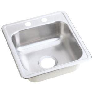 satin finish stainless steel kitchen sinks elkay dayton drop in stainless steel 17 in 2 bar 9270