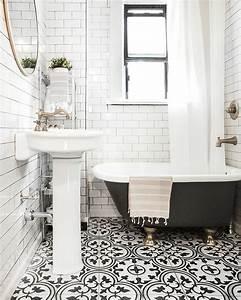 Carreaux De Ciment Salle De Bain : des carreaux de ciment dans la d co de la salle de bain ~ Melissatoandfro.com Idées de Décoration