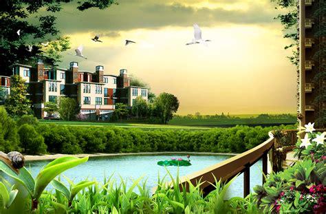 green natural background urban construction green