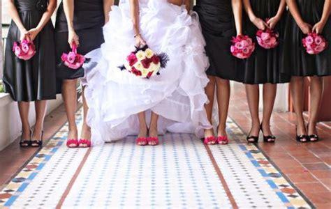 inspiration board fuchsia and black wedding theme