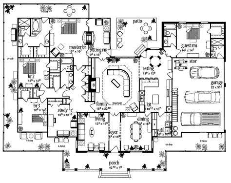 big porch house plans floor plans aflfpw13992 1 farmhouse home with 4