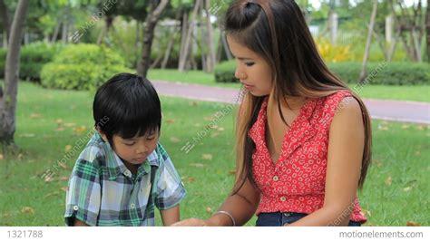 Japanese Mother Teaches Son