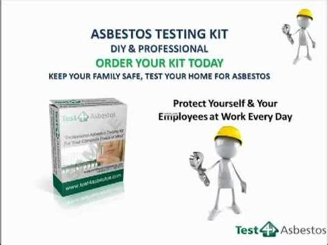 test  asbestos professional diy testing kit youtube