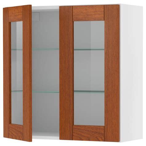 kitchen base cabinets with glass doors akurum wall cabinet with glass door birch effect ädel