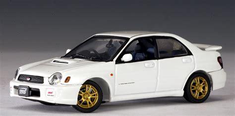 subaru autoart autoart 2001 subaru new age impreza wrx sti white