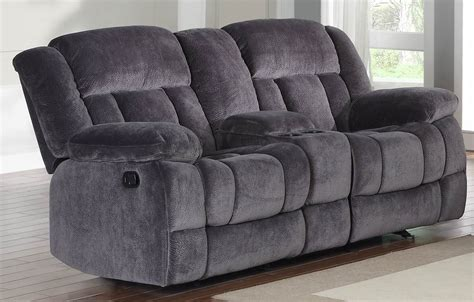 Reclining Loveseat With Middle Console by Laurelton Doble Glider Reclining Loveseat With Center