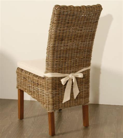 chaise en osier photo chaise de cuisine en osier
