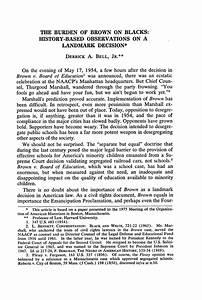The Burden of Brown on Blacks: History-Based Observations ...