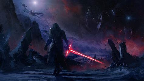 1366x768 Kylo Ren Star Wars Art 1366x768 Resolution HD 4k
