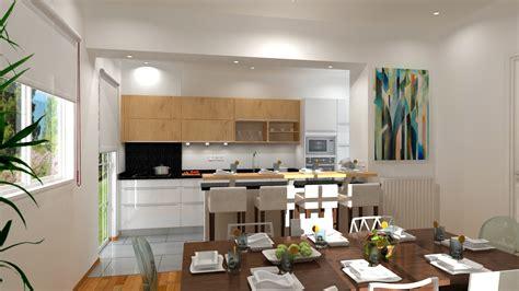 location salle avec cuisine cuisine américaine ouverte sur salle à manger