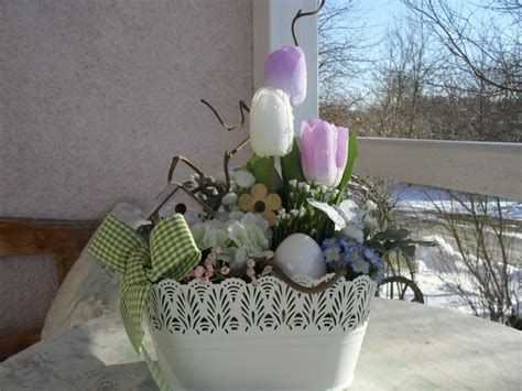 Gestecke Für Weihnachten Selber Machen by Gesteck Fr 252 Hlingsgesteck Ostern Deko Shabby Seidenblumen