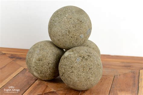 Decorative natural stone garden spheres